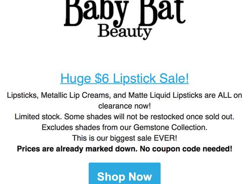 HUGE BABY BAT SALE!!!!
