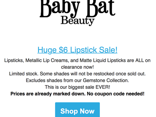 HUGE BABY BAT SALE!!!!