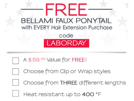 FREE Bellami Ponytail with Every Purchase!