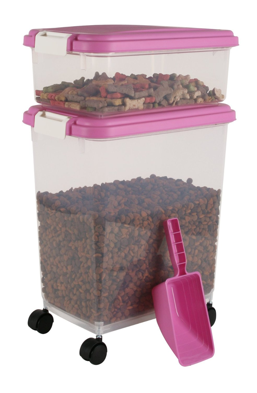 Pink Pet Food Container