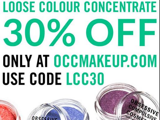 Obsessive Compulsive Cosmetics 30% Off Weekend Sale!