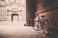 picture of walkway with bicycle