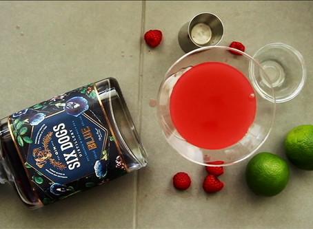 Six Dogs Blue gin cocktail: Pink Daiquiri