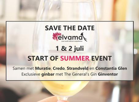 Save the date: 1 & 2 juli