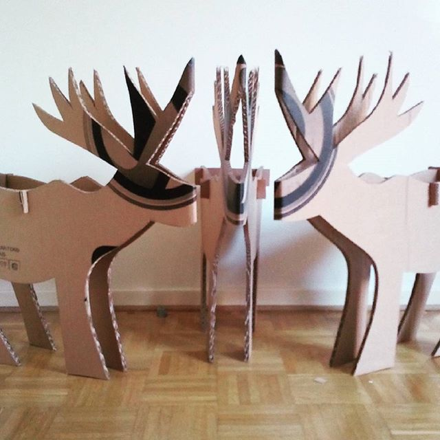 Les cerfs sont sortis ! #cerfs #cartons