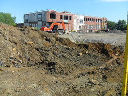 Soil remediation at industrial site, Cornwall