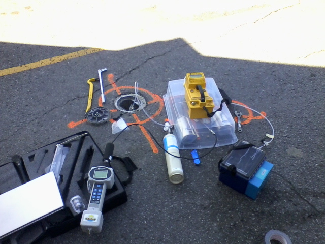 Typical soil vapour sampling setup