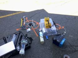 Typical soil vapour sampling setup