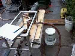Typical setup for packer (hydrogeological) testing