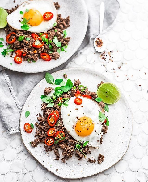 Spicy beef - breakfast, lunch or dinner_