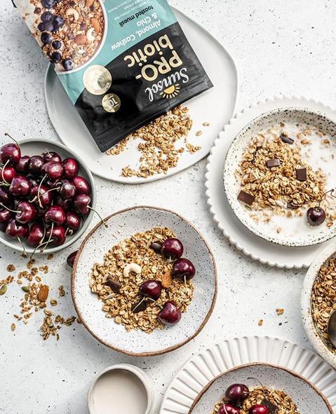 🍒 Chocolate + Cherries for breakfast an