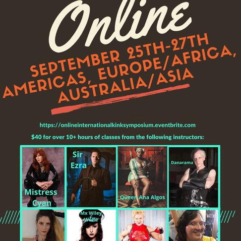 THE ONLINE INTERNATIONAL KINK SYMPOSIUM 2020
