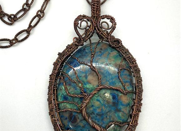 Hand Woven Tree of Life Pendant