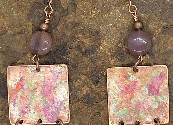 Copper and Jasper Earrings