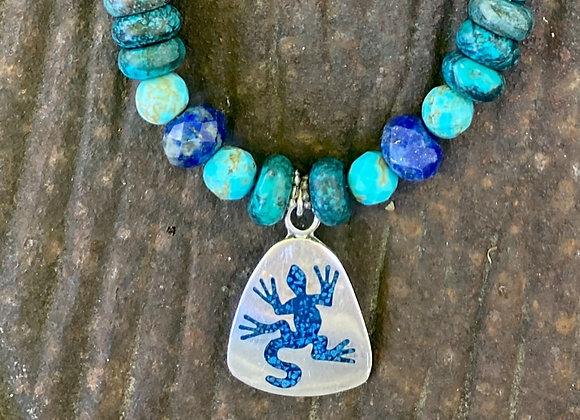 Southwest Gecko Charm Necklace