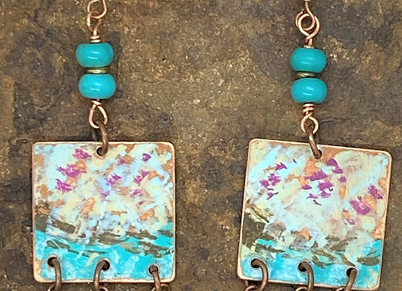Copper Impressionist Earrings