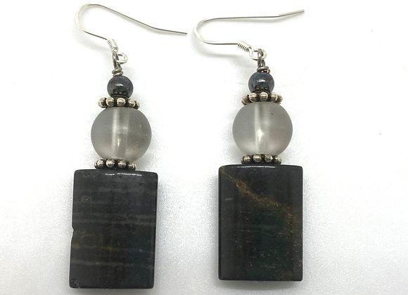 Black and Gray Earrings