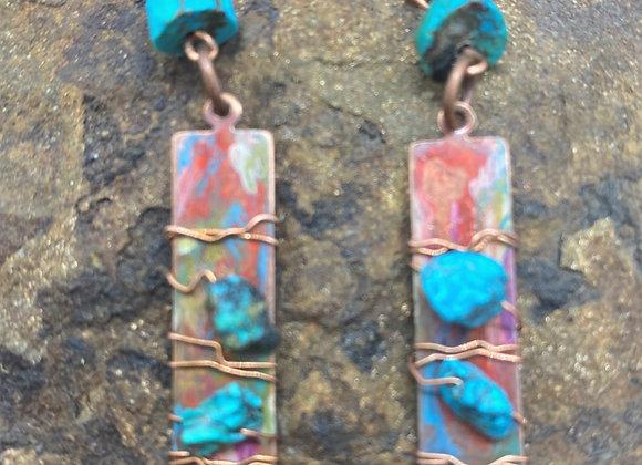 Painted Desert Turquoise Earrings