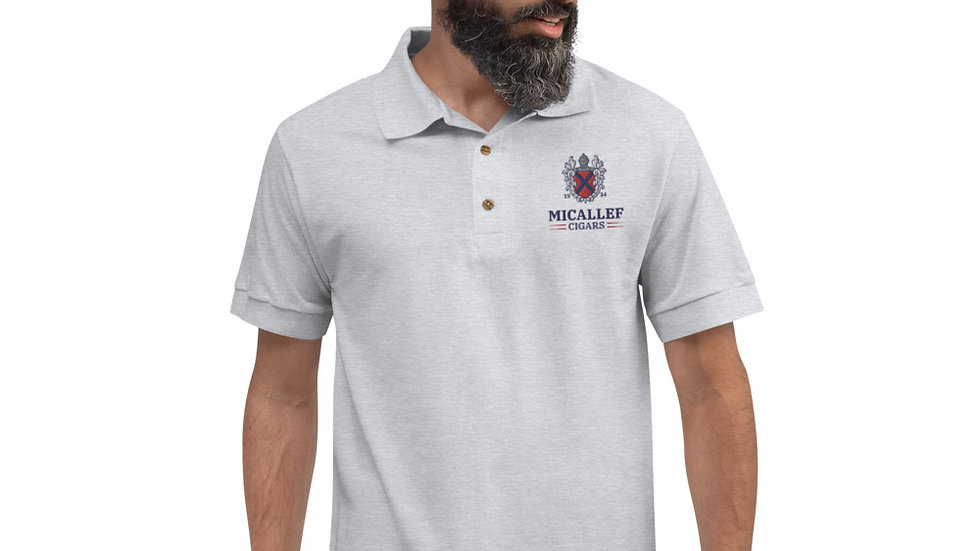 Micallef Cigars Embroidered Polo