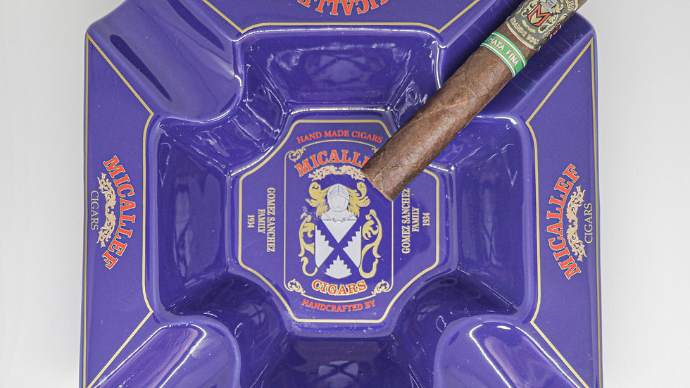 Micallef Cigars Ceramic Ashtray Blue