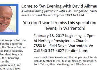 An Evening with David Aikman