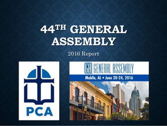 PCA General Assembly 2016 Report