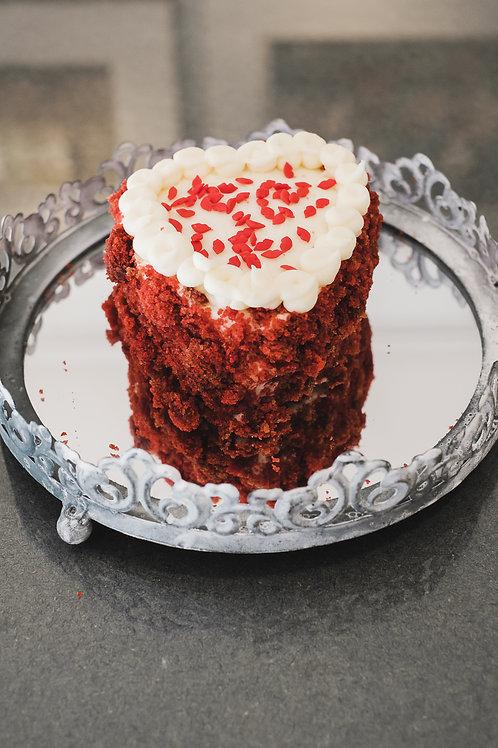 Red Velvet Heart Cake for Two