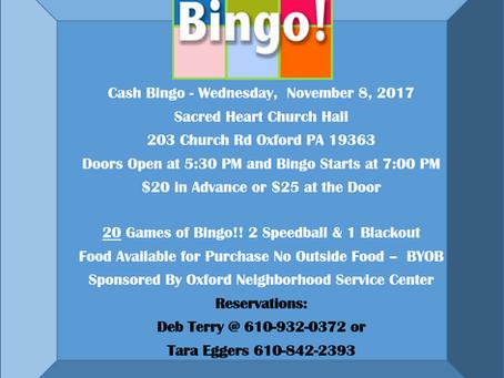 Bingo on November 8th