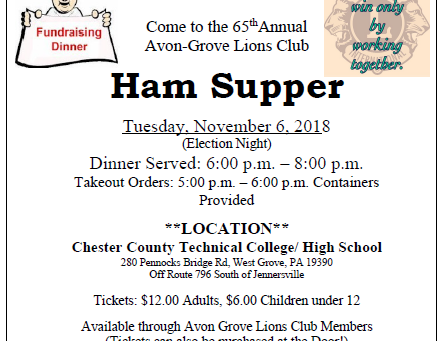65th Annual Lions Club Ham Supper