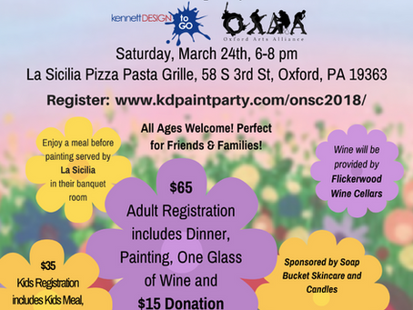 Dinner and Painting Party on March 24th!