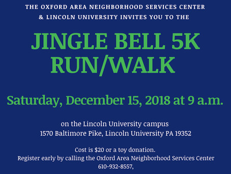 2018 Jingle Bell 5K Run CANCELLED