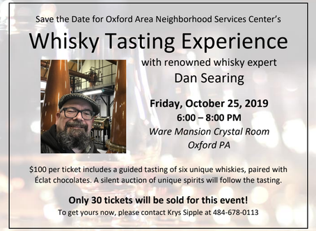 Whisky Tasting with Dan Searing on Oct 25