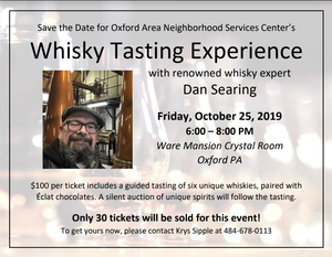 Wisky Tasting Oct 25 - Only 30 tickets will be sold!