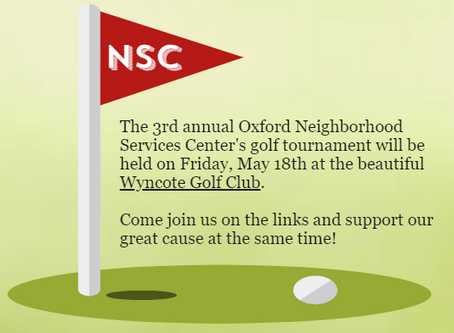 3rd Annual Golf Tournament on Friday, May 18th