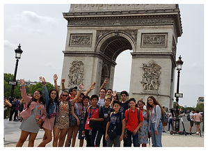 Learn Away Tour in front of Arc De Triomphe