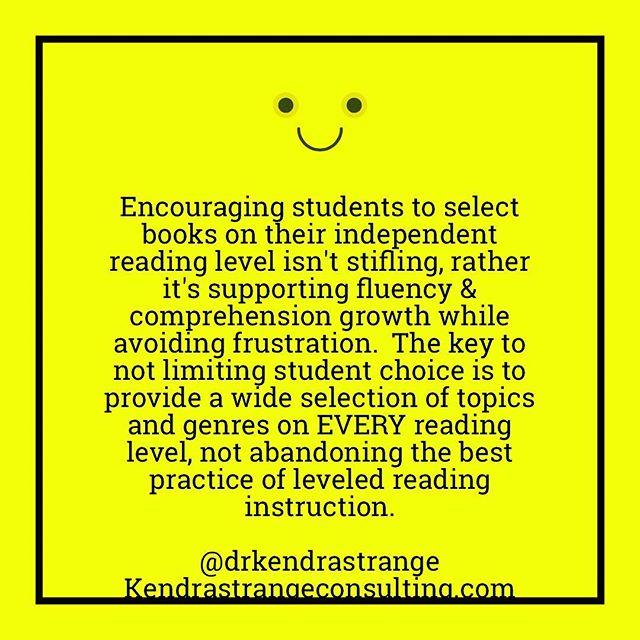 Dont Fall For The Hype Reading Levels Matter Kendra Strange Data