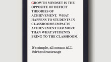 Growth Mindset = Opposite of Deficit Theories of Student Achievement: All Students Bring Something t
