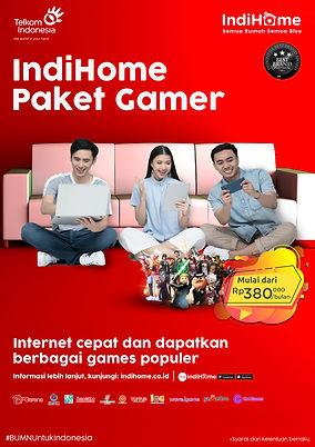 Brosur IndiHome Paket Gamer 2020 21x29.7
