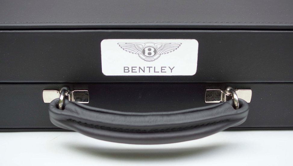 """Geoffrey Parker 2"""" Bentley leather and bird's eye maple"""
