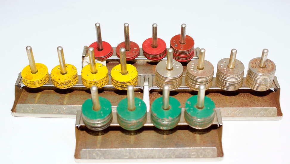 (4) Metal Coin Banks with metal coins ~ 4 denominations
