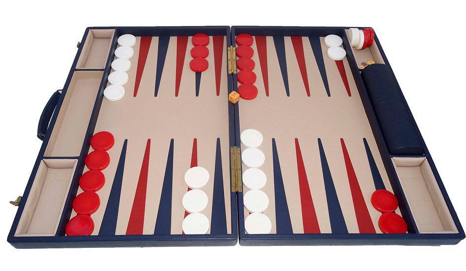 """2"""" Leather Backgammon Asprey or Asprey Inspired"""