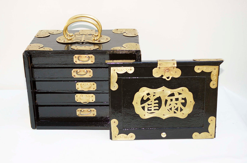Polished Brass, Ebonized Wood, Thick bone and bamboo