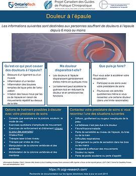 CCGI_shoulder pain_patient handout - FRE