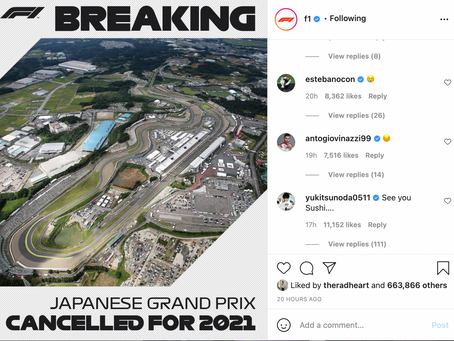 Sad Day: F1 Drivers React To Japanese Grand Prix Cancellation
