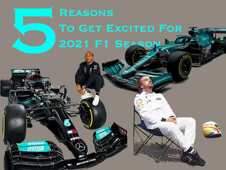 5 Reasons To Get Excited For 2021 F1 Season