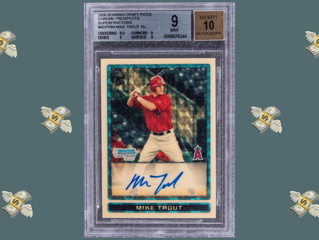 Mike Trout Rookie Card Breaks Auction Record At Whopping $3.9 Mil