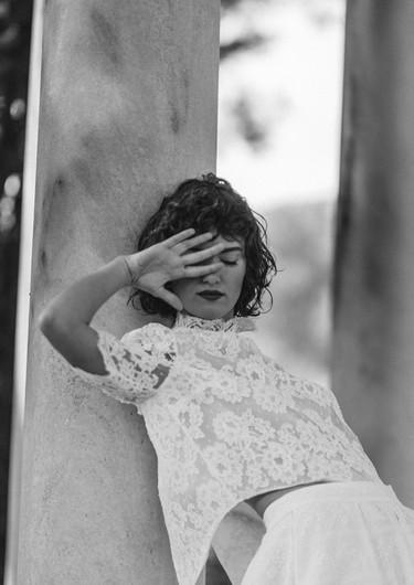 Laure de Sagazan _ Top Bazin / Jupe Alberti
