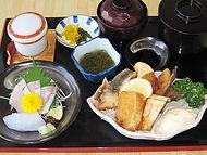 ブリカマ唐揚げ定食