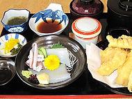 イカ刺身定食(天ぷら付き)