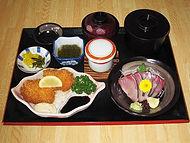 ハマチ刺身定食(地魚フライ付き)
